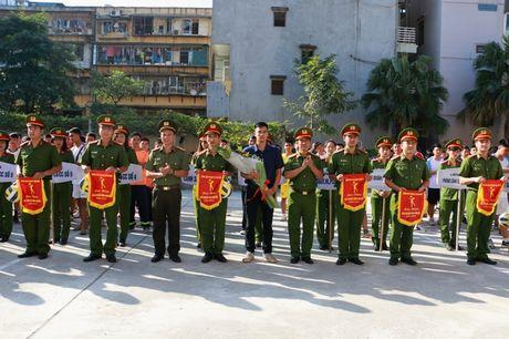 17 doi tham du giai bong chuyen Canh sat PCCC TP Ha Noi - Anh 3