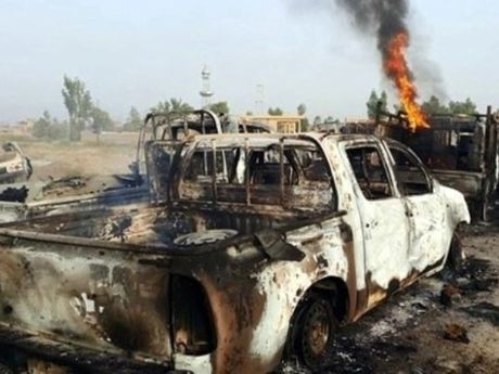 Quan doi Syria dap tan doan xe khung bo o Damascus - Anh 1