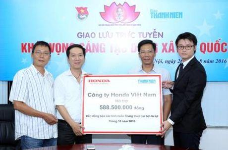Honda Viet Nam ung ho dong bao lu lut mien Trung 1,6 ty dong - Anh 1