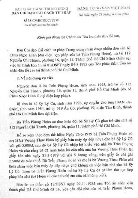 Ban an 20 nam khong thi hanh duoc: Chuyen TANDTC giai quyet - Anh 1