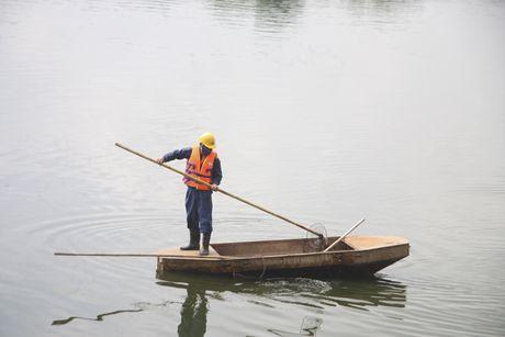 Ha Noi: Nguoi dan bang hoang khi ca chet trang o ho Linh Dam - Anh 2