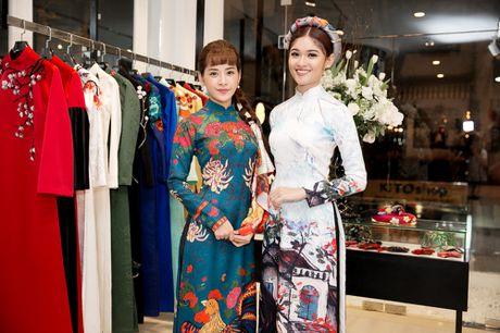 Chi Pu, Helly Tong, A hau Thuy Dung duyen dang trong ao dai cach tan - Anh 5