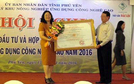 Phu Yen phat trien nong nghiep cong nghe cao: Chon SX thuy san lam mui nhon - Anh 1