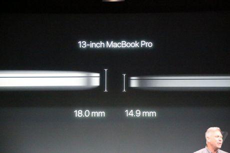 MacBook Pro 2016 ra mat: Sieu mong, sieu nhe, ho tro Touch ID, Touch Bar - Anh 3