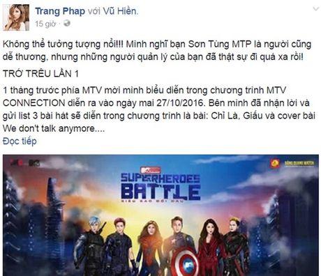 Quan ly Son Tung M-TP choi trach nhiem trong vu lum xum voi Trang Phap - Anh 2