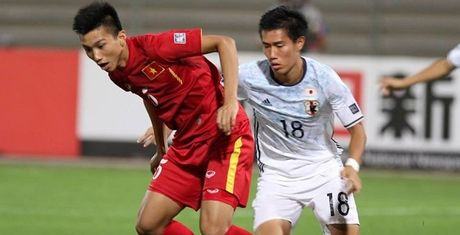 U19 Viet Nam thua trang doi hinh 2 U19 Nhat Ban - Anh 1