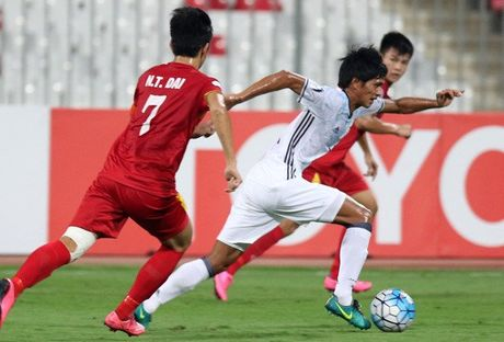 U19 Viet Nam thua trang doi hinh 2 U19 Nhat Ban - Anh 2