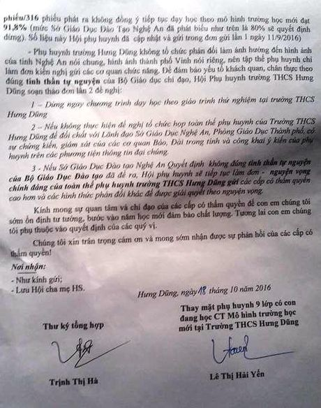 Nghe An: 91,8% phu huynh truong THCS Hung Dung kien nghi dung VNEN - Anh 3