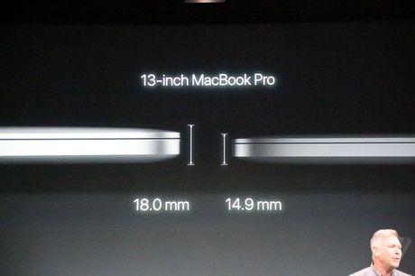 Apple cong bo MacBook Pro moi, mong nhe hon va co cam bien van tay - Anh 2