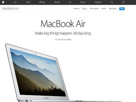 Apple dang dan khai tu MacBook Air - Anh 1
