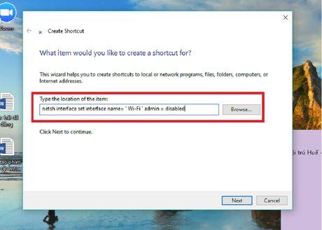 Huong dan tao to hop phim bat/tat Wi-Fi nhanh cho PC chay Windows 10 - Anh 2