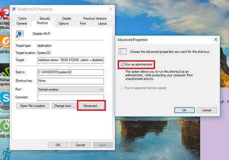 Huong dan tao to hop phim bat/tat Wi-Fi nhanh cho PC chay Windows 10 - Anh 4