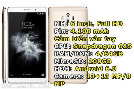 ZTE gioi thieu smartphone man hinh 6 inch, RAM 4 GB, camera kep - Anh 1