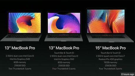 "Apple ra mat Macbook Pro moi: Mong, nhe va thiet ke Touch Bar ""sieu nang luc"" - Anh 1"