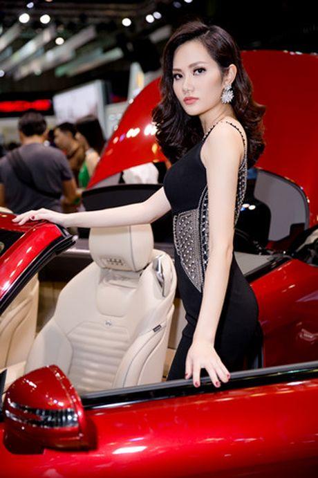 Hoa hau Dieu Linh goi cam ben sieu xe - Anh 4