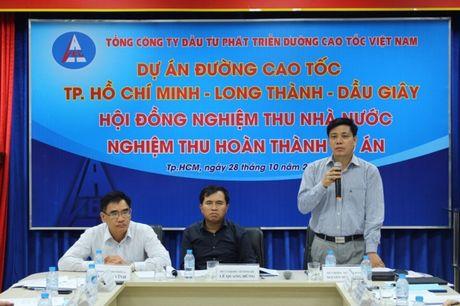 Nghiem thu hoan thanh cao toc TPHCM-Long Thanh-Dau Giay - Anh 1
