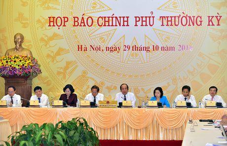Noi dung hop bao Chinh phu thuong ky thang 10 - Anh 1