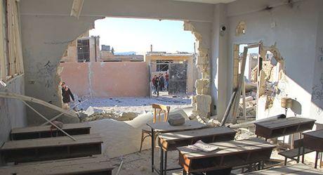 Syria: Canh sat Aleppo xac nhan vu khong kich truong hoc - Anh 1