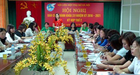 Hoi nghi Ban chap hanh Hoi LHPN Ha Noi khoa XV, nhiem ky 2016 -2021 - Anh 1