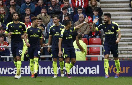 Ghi 3 ban trong 7 phut, Arsenal de bep Sunderland - Anh 1
