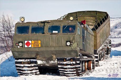 Kha nang dac biet cua 'vua xe dia hinh' banh xich S-300 Vityaz - Anh 11