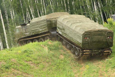 Kha nang dac biet cua 'vua xe dia hinh' banh xich S-300 Vityaz - Anh 16