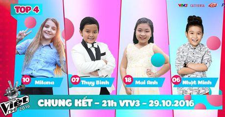 Xem Liveshow 7 - Chung ket Giong hat Viet nhi 2016 ngay 29/10 online tren VTV3 - Anh 1