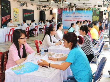 Gan 5.000 sinh vien tham du Ngay hoi 'Phong van – Tuyen dung' - Anh 1