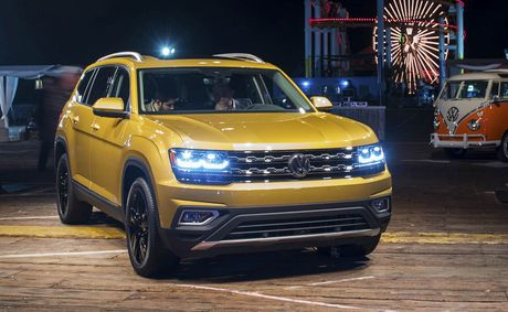 Can canh Volkswagen Atlas 2018 hoan toan moi, doi thu Toyota Highlander - Anh 3