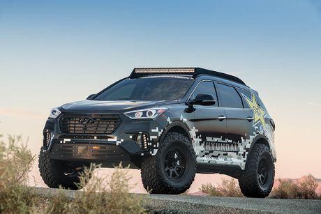 Do Hyundai Santa Fe thanh chien binh offroad hang nang - Anh 3