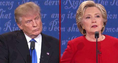 Bi cu tri nu quay lung, Trump tut xa so voi Clinton - Anh 1