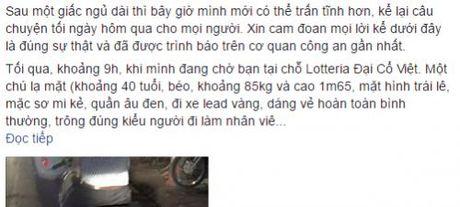 Loi ke rung minh cua thieu nu Ha thanh bi lua mat Iphone 6 gold - Anh 1