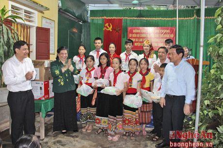 Pho Chu tich Quoc hoi Tong Thi Phong dang huong tai Nghia trang liet sy Viet - Lao - Anh 7