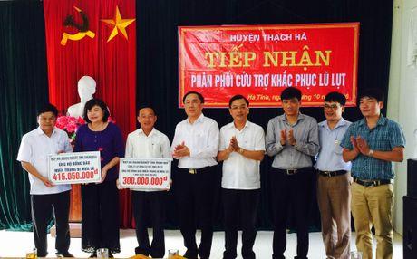 Cong dong doanh nghiep Thanh Hoa: Tren 700 trieu dong ho tro dong bao Ha Tinh - Anh 1