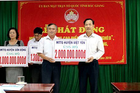 Bac Giang: Ket qua thuc hien thang cao diem 'vi nguoi ngheo' nam 2016 - Anh 1