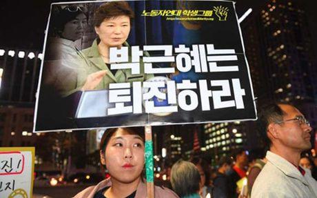 Han Quoc: Hang nghin nguoi bieu tinh Tong thong Park Geun-hye - Anh 1