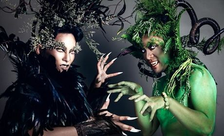 """Choang"" voi qua Halloween cua Phan Hien, Wang Tran danh cho vo - Anh 1"