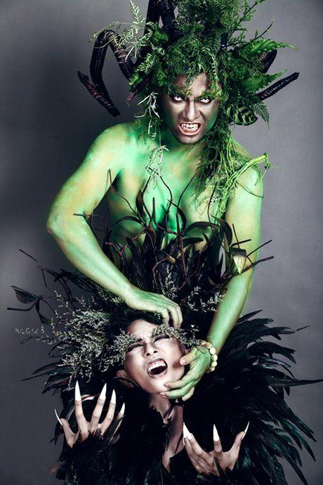 """Choang"" voi qua Halloween cua Phan Hien, Wang Tran danh cho vo - Anh 2"