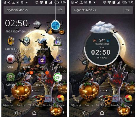 """""""Hoa trang"""" cho smartphone de don Halloween voi bo giao dien cuc doc dao - Anh 1"""