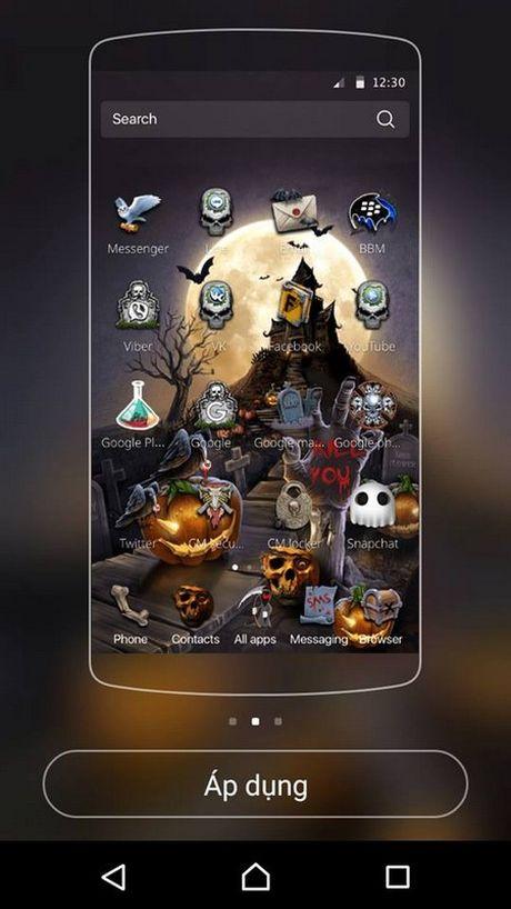 """""""Hoa trang"""" cho smartphone de don Halloween voi bo giao dien cuc doc dao - Anh 2"""