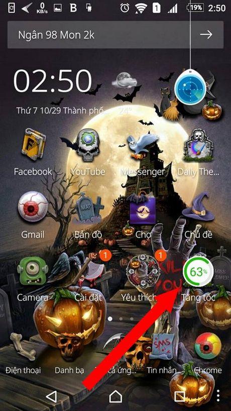 """""""Hoa trang"""" cho smartphone de don Halloween voi bo giao dien cuc doc dao - Anh 4"""