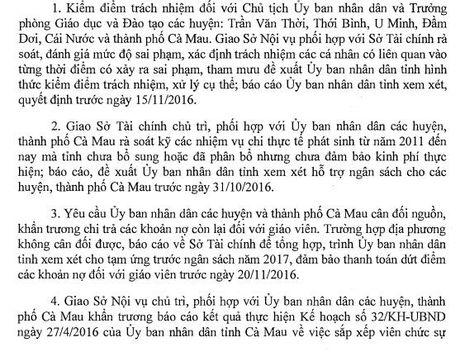 Phai tra dut no luong giao vien nhieu huyen o tinh Ca Mau truoc ngay 20/11 - Anh 2