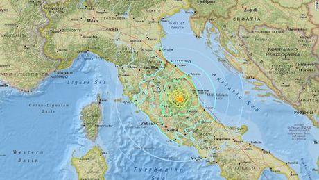 Mien trung Italia tan hoang sau dong dat 6,6 do Richter - Anh 1