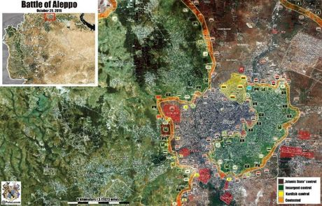 Chien su Aleppo: Hang chuc tay sung thanh chien nop mang - Anh 1