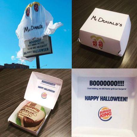 Burger King treu choc doi thu canh tranh Mc Donal's dip Halloween - Anh 3