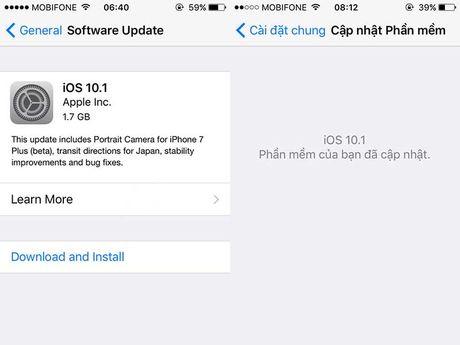 iOS 10.1 gap loi nghiem trong - Anh 1