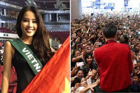 Fan chen lan, ngat xiu vi Noo Phuoc Thinh; Nam Em truot top 4 Miss Earth vi loi phien dich - Anh 1