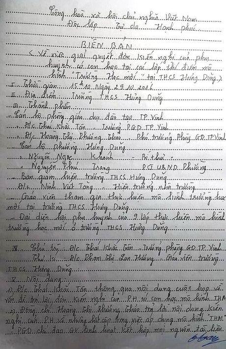 Nghe An: Be tac vu 290 phu huynh Truong THCS Hung Dung kien nghi dung VNEN - Anh 1