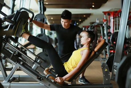 Ngam chan dai Ngoc Chau goi cam tap gym - Anh 10