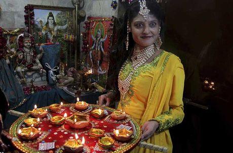 Tung bung le hoi Diwali o An Do qua anh - Anh 3